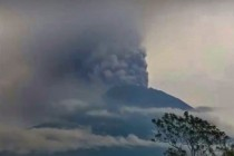 Volcano Mount Agung Erupts