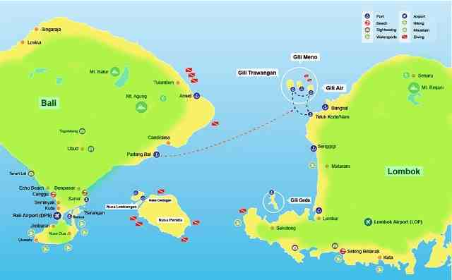 gili island fast boat ticket good rate